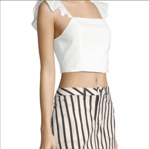 Alice and Olivia off white crop top size 0
